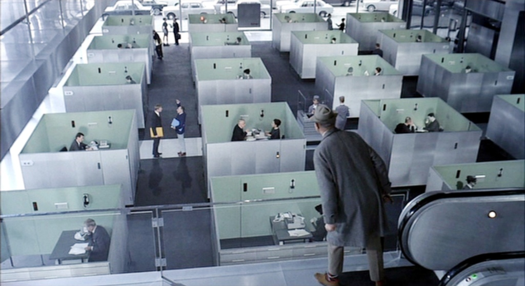 Still from Jacques Tati's film Playtime (1967)
